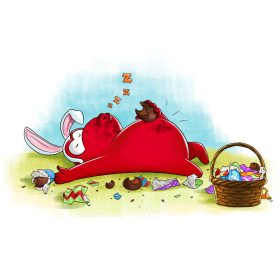 Red Ape Easter Egg Bunny Happy Easter Chocolate