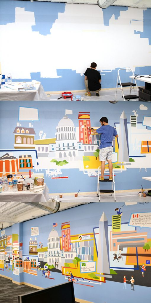 Facebook DC – Office mural03