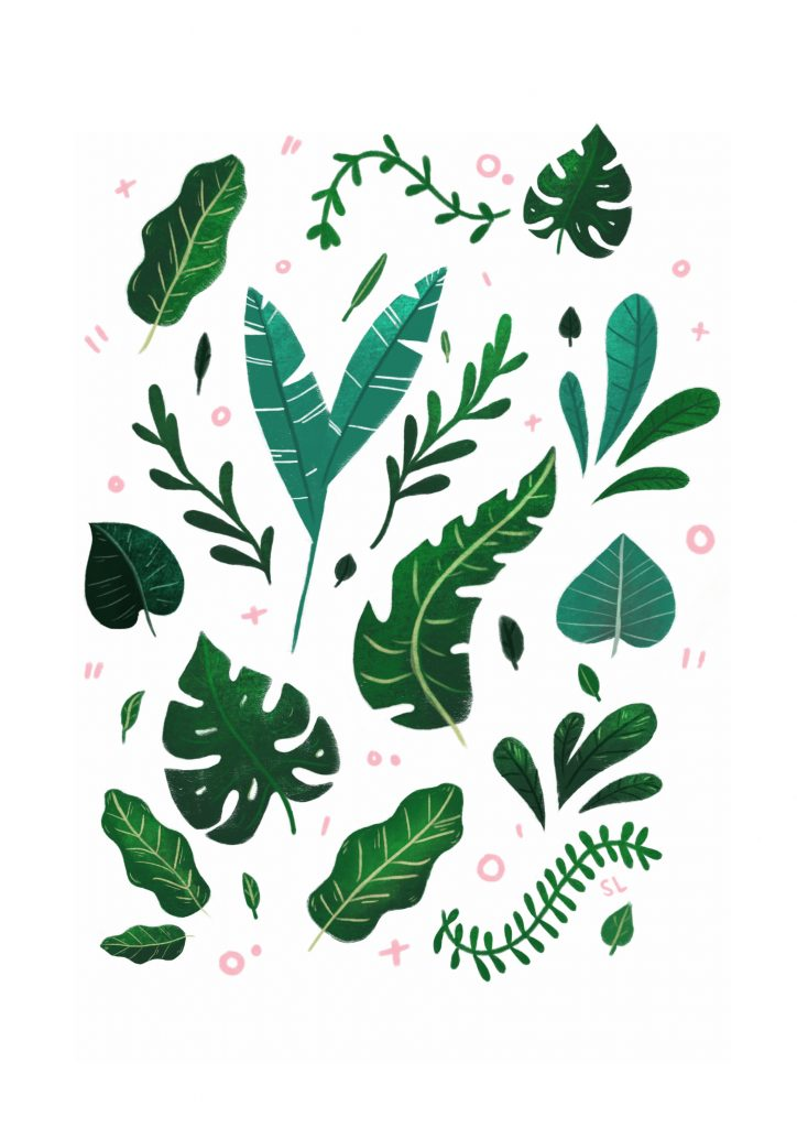 Tropical_Leaves_Print_-_A3